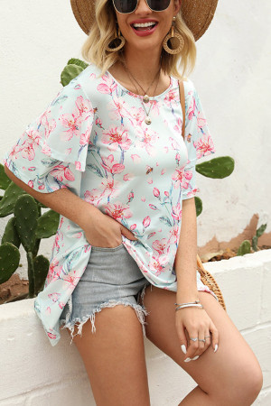 Scoop Floral Print T-shirt
