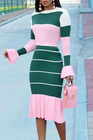 Scoop Color Wrap Dress