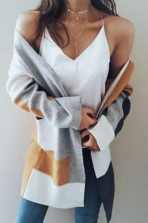3/4 Sleeves Sweater Cardigan