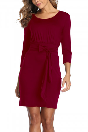 Belted Tie Waist Pencil Dress AFB