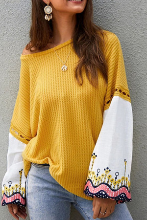 Flared Sleeve Casual Loose Blouse