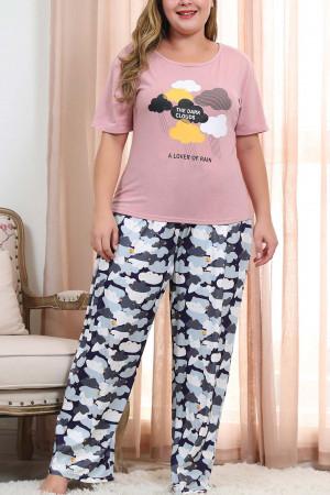 Print Tee & Pants PJ Set