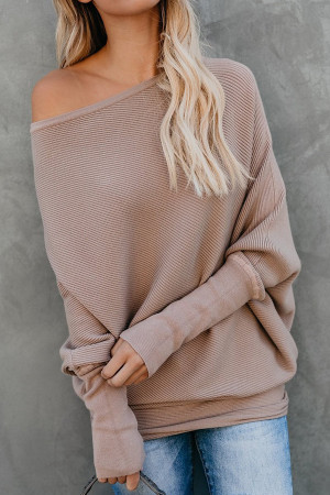 Bat Sleeves Solid Sweater