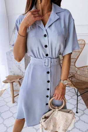 Button Down Lapel Dress
