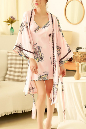 Cami Nightdress Robe Two Pieces