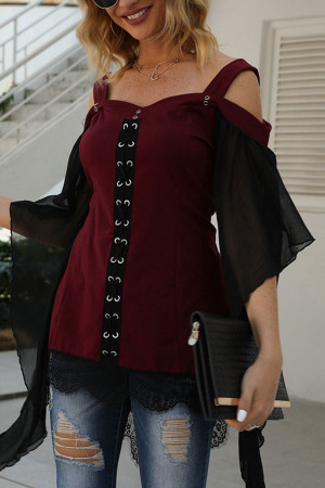 Casual Bat Sleeve Blouse