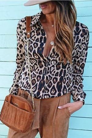 Casual Leopard Print Shirt