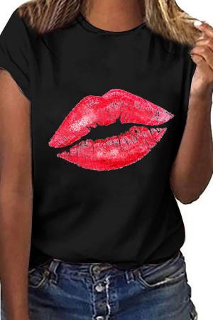 Casual Lip Print T-shirt
