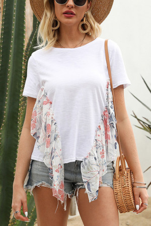 Casual Patchwork T-shirt