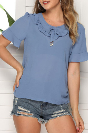 Casual Scoop Chiffon Top