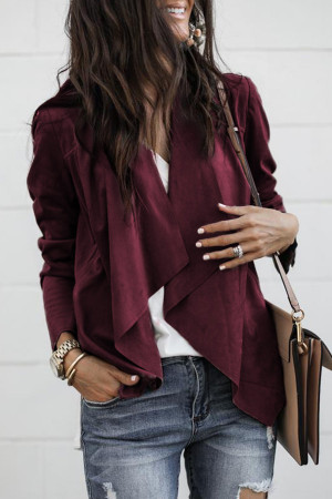 Casual Fashion Softy Solid Coat