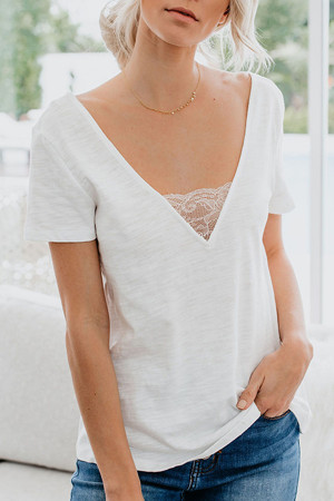 Casual V-Neck T-shirt