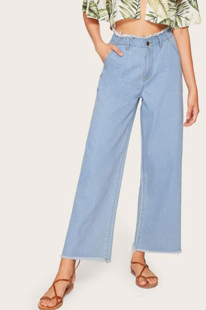 Casual Wide Leg Jeans