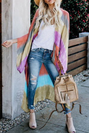 Cute Colorful Print Cardigans
