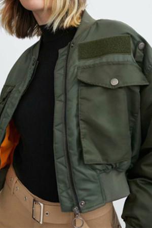 Dark Green Zipper Jacket