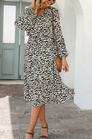 Elegant Leopard Print Dress
