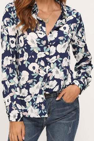 Floral Casual Chiffon Shirt