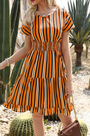 Frill Waist Ruffle Dress
