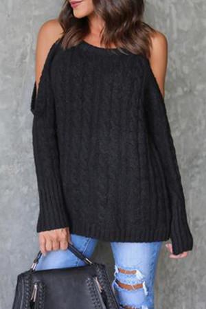 Halter Off Shoulder Sweater