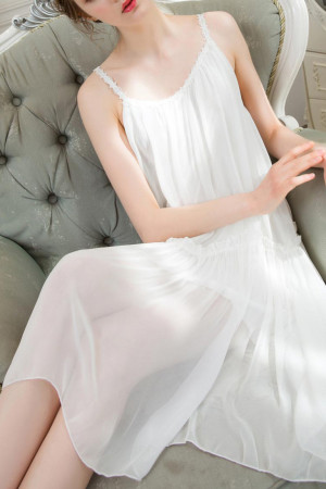 Chiffon Pajama Slip Dress