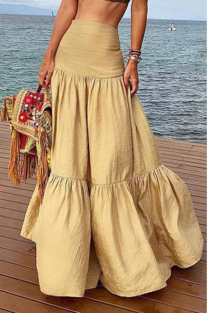 Layered Ruffles High Waist Skirt