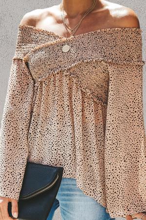 Leopard Off Shoulder Blouse