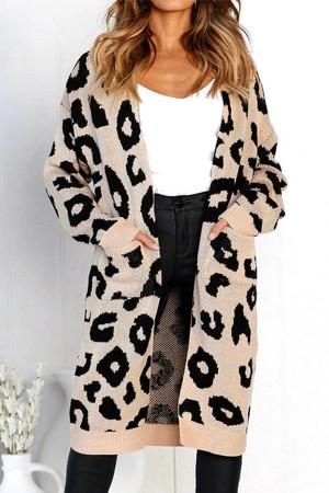 Leopard Print Long Sleeve Cardigan