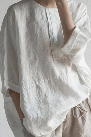 Loose Batwing Sleeve Blouse