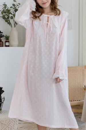 Loose Drawstring Cotton Nightdress