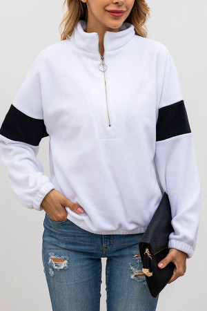 Mock-neck Half Zip Sweatshirt
