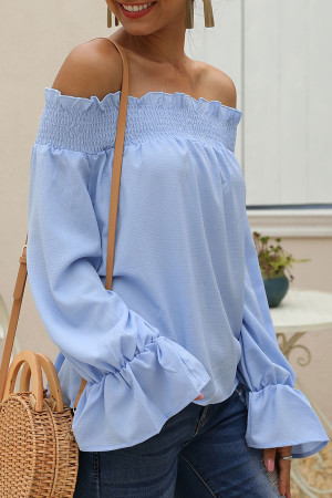 Off-the-shoulder Loose Blouse