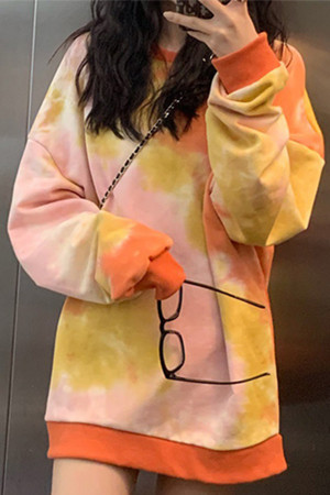Tie Dye Scoop Sweatshirt