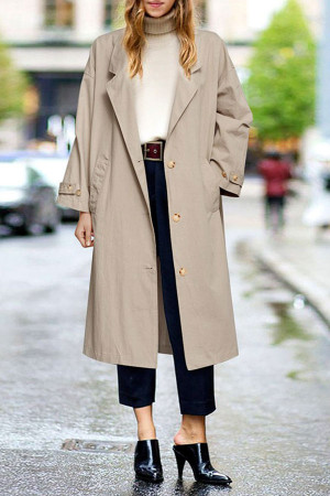 Oversized Button Up Coat