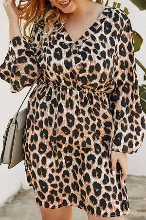 Plus Size Leopard Dress