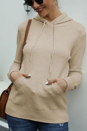 Pockets Drawstring Knit Hoodies