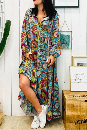 Print Tassel Vintage Dress