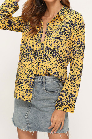 Printed Button Up Shirt