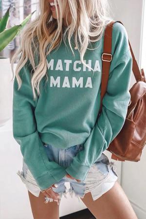 Round Neck Letter Print Sweatshirt