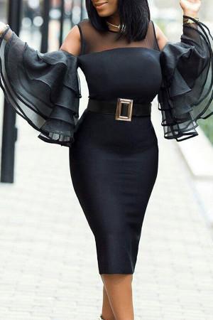 Ruffle Sleeve Bodycon Dress
