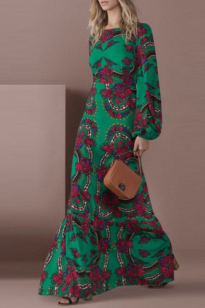 Scoop Floral Long Dress