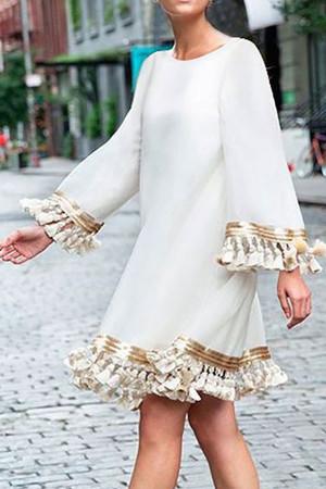 Scoop Tassel Tunic Dress