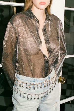 See Through Buttoned Shirt