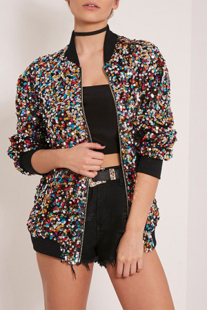Sequin Loose Jacket