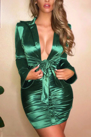Sexy V-Neck Bodycon Dress