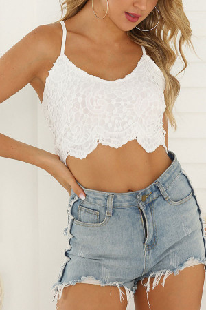 Short White  Cami Top