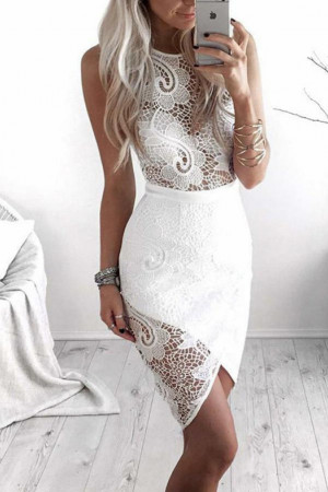 Sleeveless Cutout Short Dress