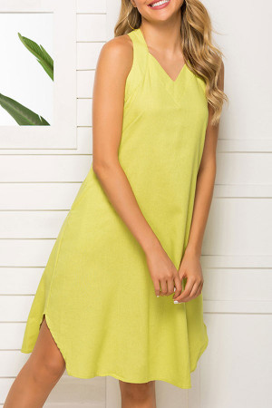 Sleeveless Halter Casual Dress