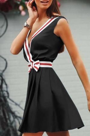 Sleeveless V-Neck Flounce Dress