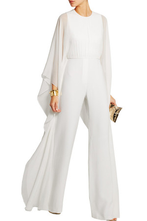 Solid Chiffon Wide Leg Jumpsuit
