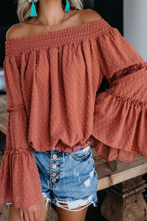 Solid Off The Shoulder Blouse